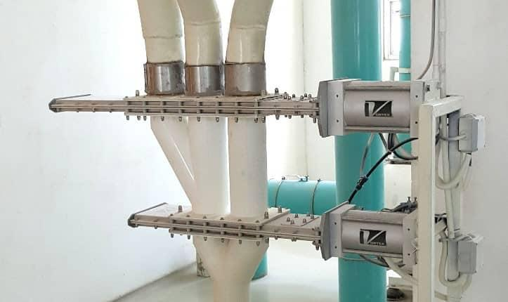Wye Line Diverter Replaces Inconsistent Flap Diverters  Flour Milling Company in East Jawa, Indonesia